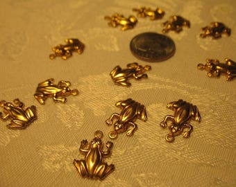 Gold Frog Charms