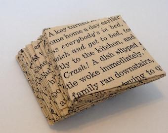 """Envelopes - 2""""x2"""" - Words - Old Book - x24 - Set 6"""