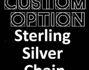 """Sterling Silver 18"""" chain"""