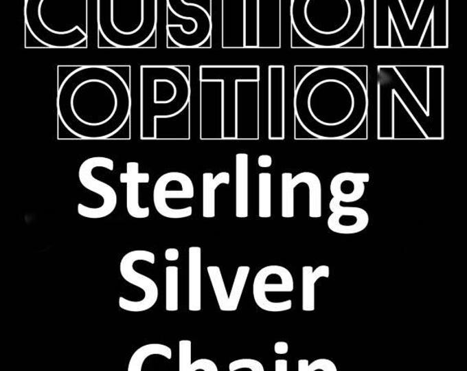 "Sterling Silver 18"" chain"