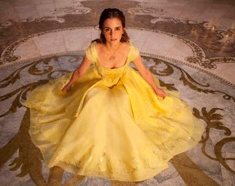 Custom Made Belle From Beauty and the Beast Boned Corset Dress Gown