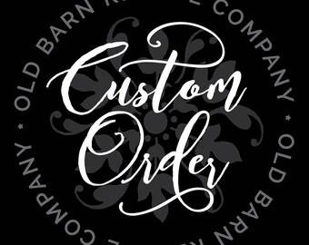 Custom order for Jaclyn A