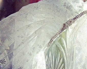 SNOWFLAKE Bridal Veil-elbow Length-LAST ONE-CRBoggs Designs Original Design