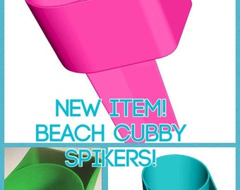Beach Spiker Drink Holder Sand Spike Cell Phone Pocket Personalized Monogram Custom Order