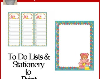 Sewing To Do Lists and Stationery Printable