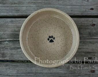 6 inch Cream Pet Dish Slightly Imperfect Medium