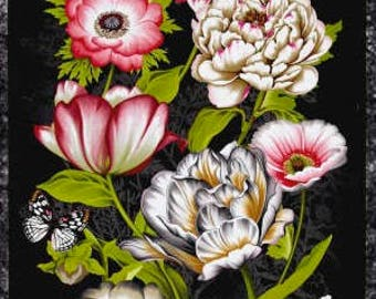 "New ~ Tivoli Garden 23"" Panel Multi Color ~ Tivoli Garden by Anne Rowan for Wilmington Prints, Quilt Cotton, Easter, Spring Fabric"