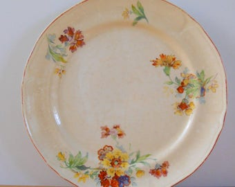 Vintage Floral Plate • Single Display Prop Plate • Cottage Country Floral Single Plate