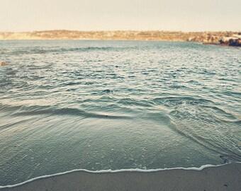 beach photograph, La Jolla photography, waves, water calming blue green peaceful, beach decor, San Diego, coastal beachscape California art