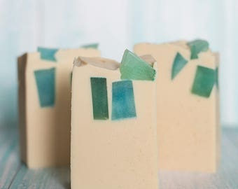 Sea Glass & Linen |Handmade Soap with Shea Butter and Coconut Milk