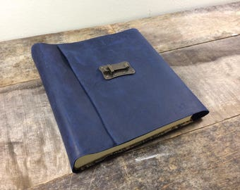 Navy Blue Leather Photo Album 50 Pages - Large
