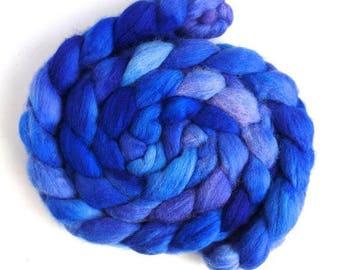 Bluebells, Shetland Roving - Handpainted Spinning or Felting Fiber
