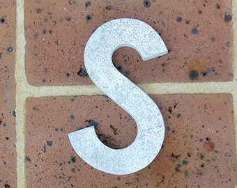 Vintage Metal Letter Sign Metal Letter S Sign Marquee Metal Letter S Sign Industrial Letter S Sign 6 Inches Tall