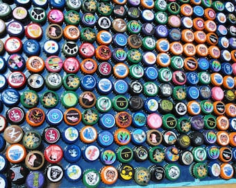 Finished Bottle Caps ...On Sale Now. 1093 pieces...Only 9 cents each...FREE SHIPPING
