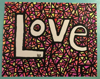 Love Mosiac Paint and Ink