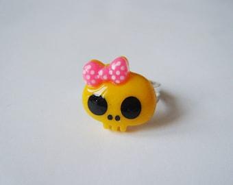 Ring - Skull - yellow