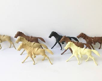 Plastic Horses cowboys and indians horses toy horses western horses 1950s toys