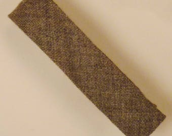 Rockabilly APACHE NECKTIE super SKINNY Wool hand 1960s 51 in long 1 1/2 in wide in long All   gray