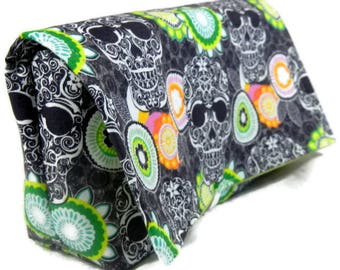 Coupon Organizer Holder, Skulls and Florals, Ready to Ship