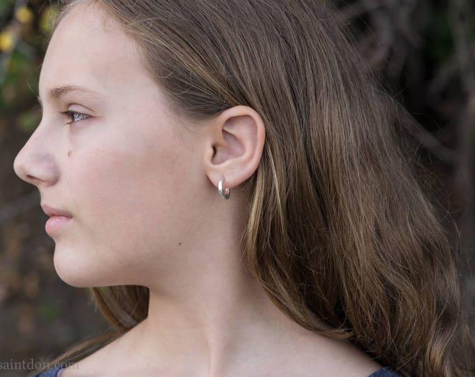 14mm Sterling Silver Hoop Earrings