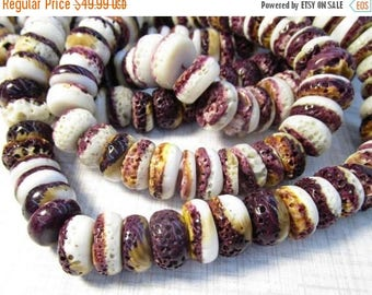 20% OFF SALE Natural Spiny Oyster Purple Rondelle Beads 15mm, Purple Orange Shell Natural Color,
