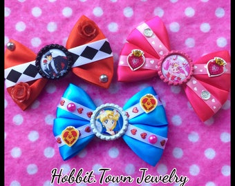 Sailor Moon Tuxedo Mask Chibi Magical Girl Anime Hair Bows