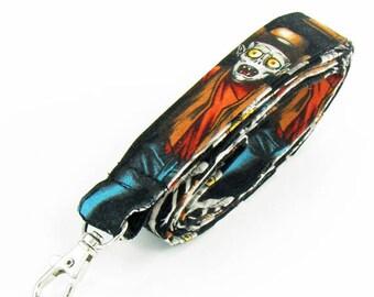 Zombie, lanyard,  badge holder, ID badge holder, fabric lanyard, badge lanyard, name badge holder, key lanyard, stocking stuffer