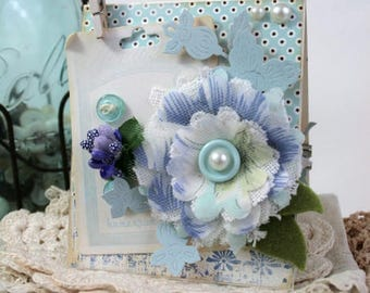 shabby chic card-BLOOM WHERE you are PLANTED-decorated inside greeting