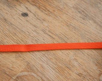 Orange Bias Trim  - 3 yards Vintage Trim New Old Stock 60s 70s Edging Single Fold