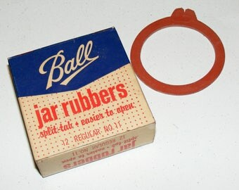 Vintage Ball Mason Jar Rubbers Regular Size Original Box