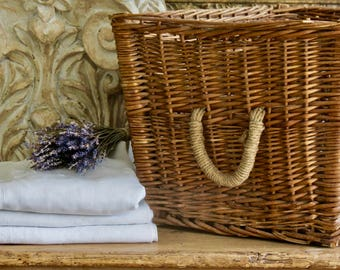 From The French Container......Lovely Vintage Large French Market Basket