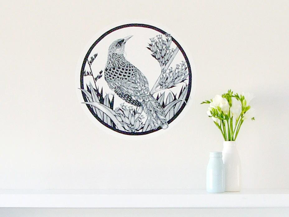 Tui Dot Wall Decal C Medium New Zealand Bird Home Decor - Wall decals nzkiwiana decals