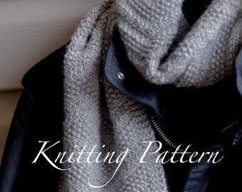 Beckenham Scarf - Knitting pattern - Mens scarf - Reversible design - Three sizes - Instant download