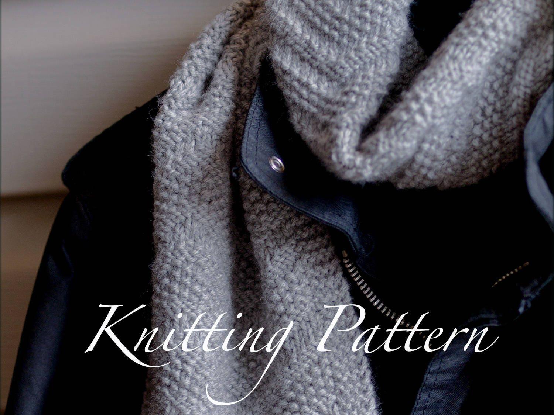 Beckenham Scarf Knitting Pattern Mens Scarf Reversible