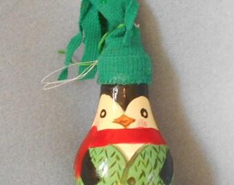 Mr. Green Penquin Recycled Light bulb Ornament