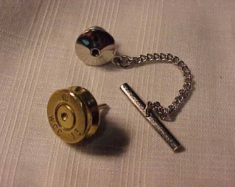 Bullet Tie Tack 30 cal WCC 13 Headstamp Recycled Repurposed