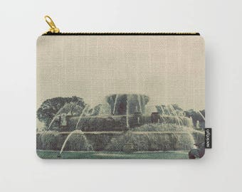 Chicago Buckingham Fountain Color Photo Carry All Pouch