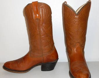 Mens 8 D Cowboy Boots Acme Dingo Brand Tan Brown Western Urban Indie Womens 9.5