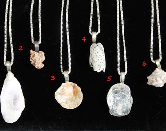 Reclaimed from the Sea Shell necklace