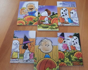 Up cycled Note Pads Party Favors Great Pumpkin Charlie Brown