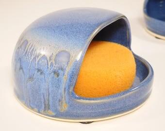 Pottery Salt Pig - Handmade Salt Celler -Sponge Caddie - Ceramic Salt Pig - Kitchen Sponge Dish - Sponge Holder - Salt Keeper - In Stock