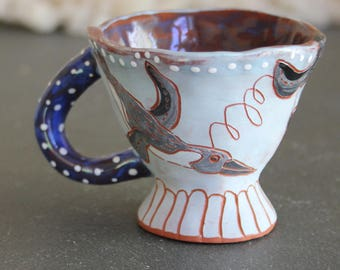 Ceramic Espresso cup, pengin all over