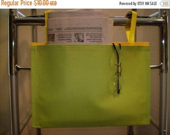ON SALE Walker Bag Easy Wipe Clean Vinyl Lime Green Yellow
