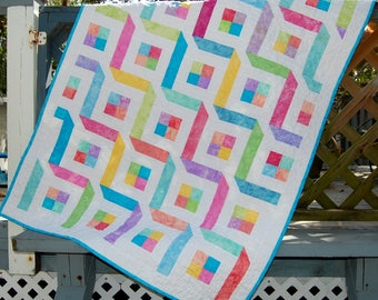 Cute and Fun Handmade Baby Quilt, Candy Colored Baby Girl Quilt, Handmade Baby Girl Quilt, Bright and Colorful Handmade Baby Girl Quilt
