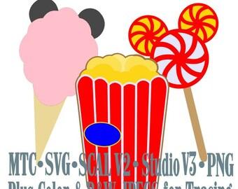 Amusement Park Embellishment Mouse Treats #06 Digital ScAL MTC SvG Cut Files JPEG PNG
