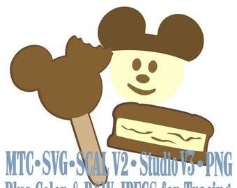 Amusement Park Embellishment Mouse Treats #02 Digital ScAL MTC SvG Cut Files JPEG PNG