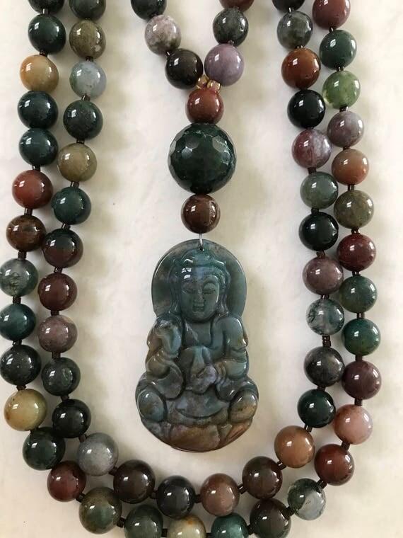 Fancy Jasper Mala/Prayer Beads
