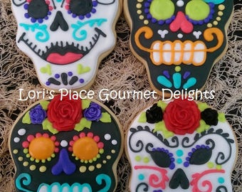 Dia Los Muertos Cookies - Day of the dead Cookies - 12 Cookies