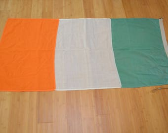Vintage IRELAND FLAG Irish Flag cloth cotton old school