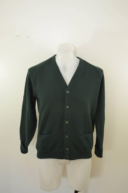 Vintage BEN HOGAN green cardigan sweater Medium